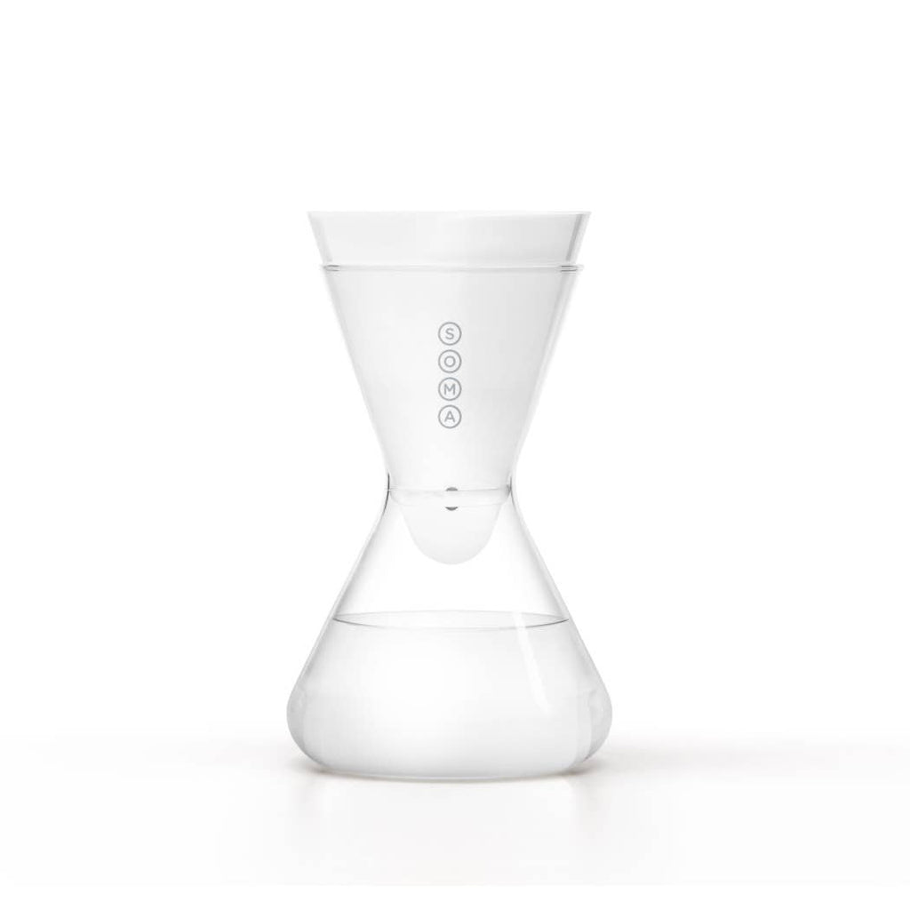 6-Cup White Glass Carafe - UrbanCred