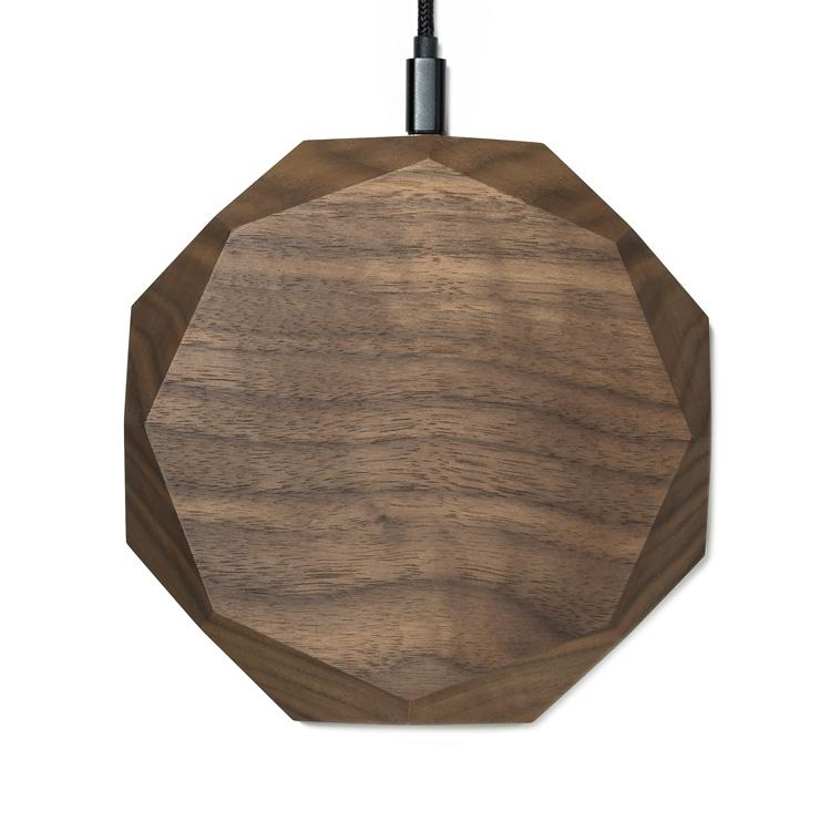 Walnut Qi Wireless Charger