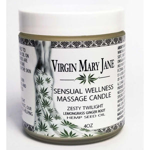 Virgin Mary Jane Hemp Candle 4oz - Zesty Twilight - VixenAndStag