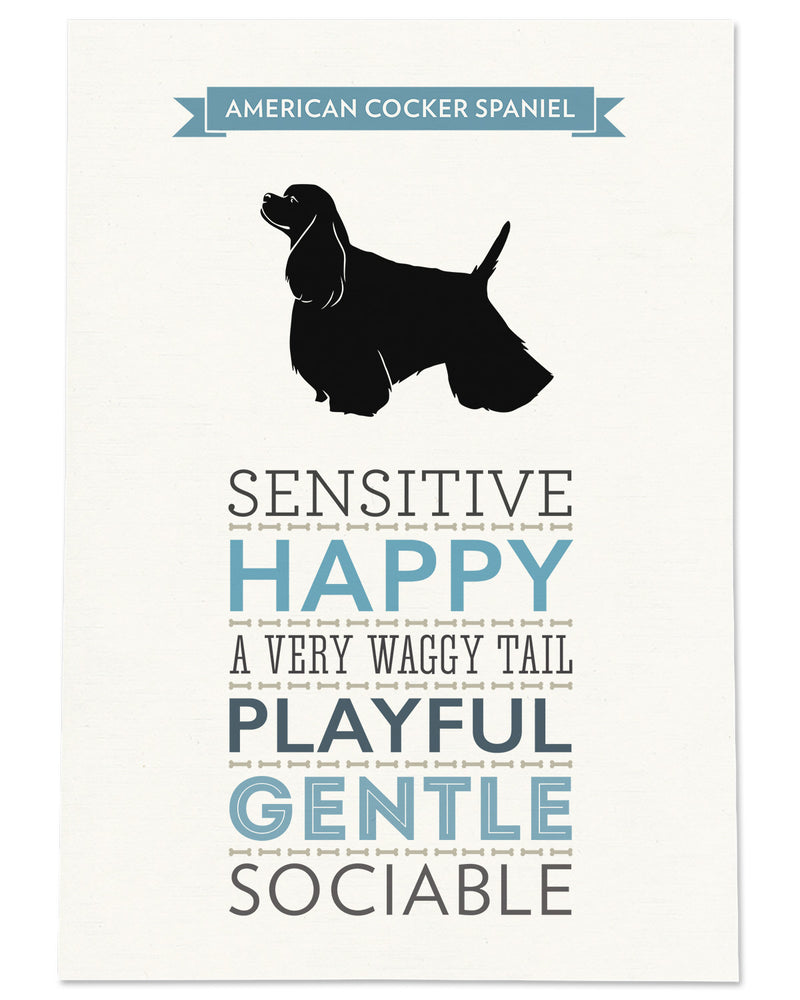 American Cocker Spaniel Dog Breed Traits Print