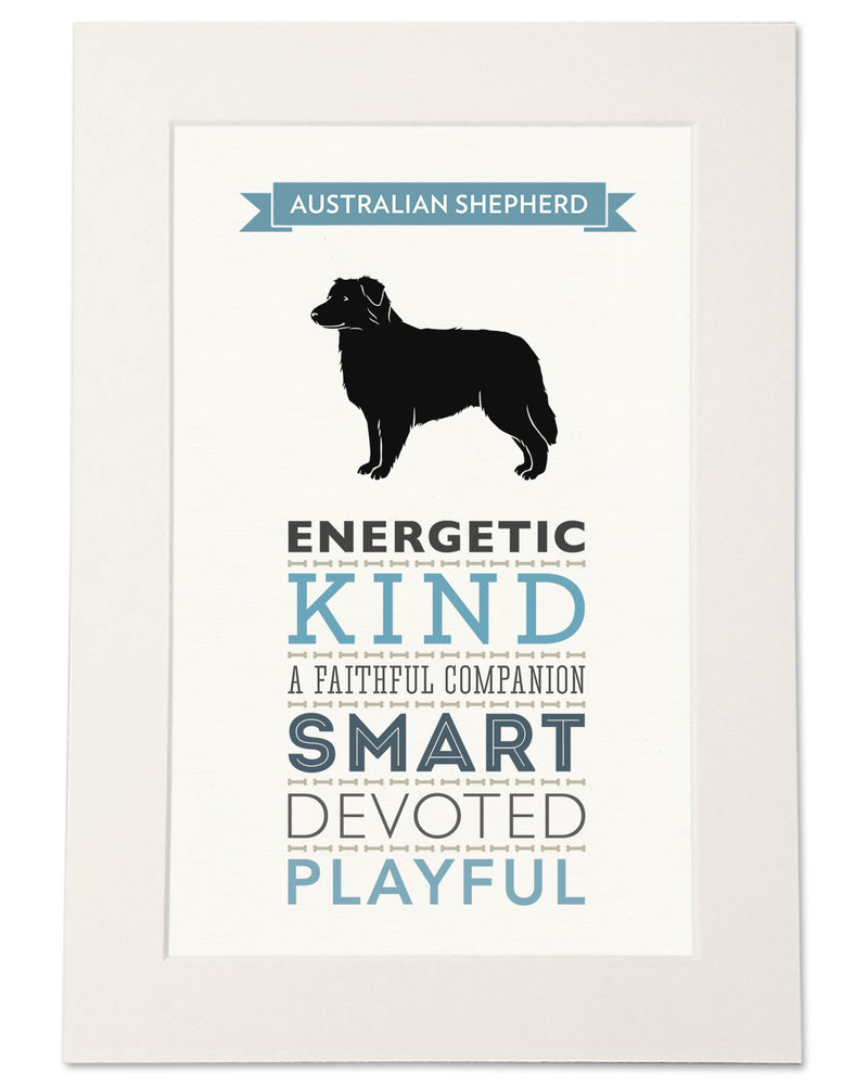 Australian Shepherd Dog Breed Traits Print