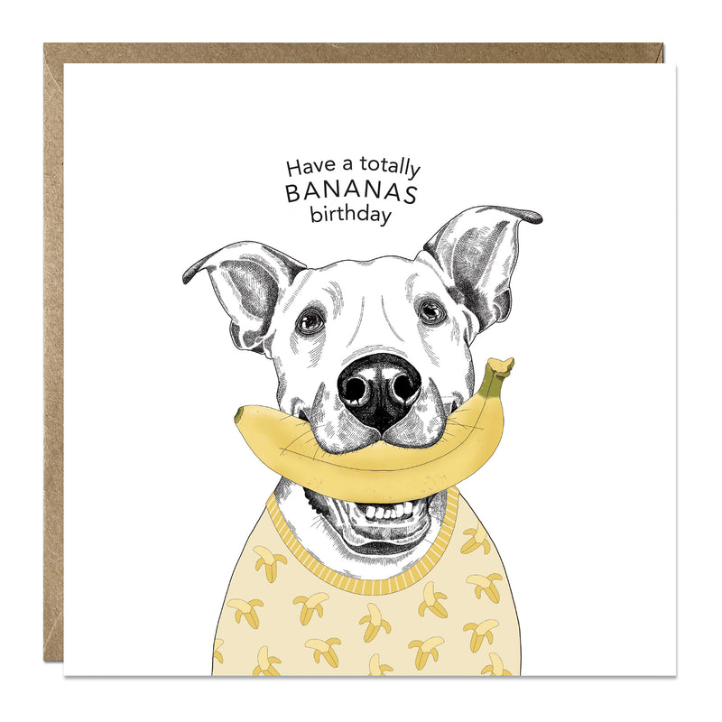 'Bananas Birthday' birthday card