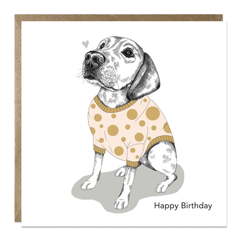 'Labrador in Jumper' birthday card