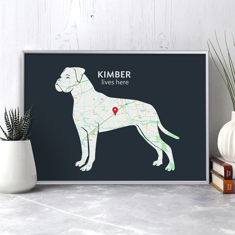 Personalised Boxer Map Print