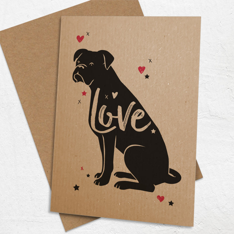 Boxer Dog 'Love' Card