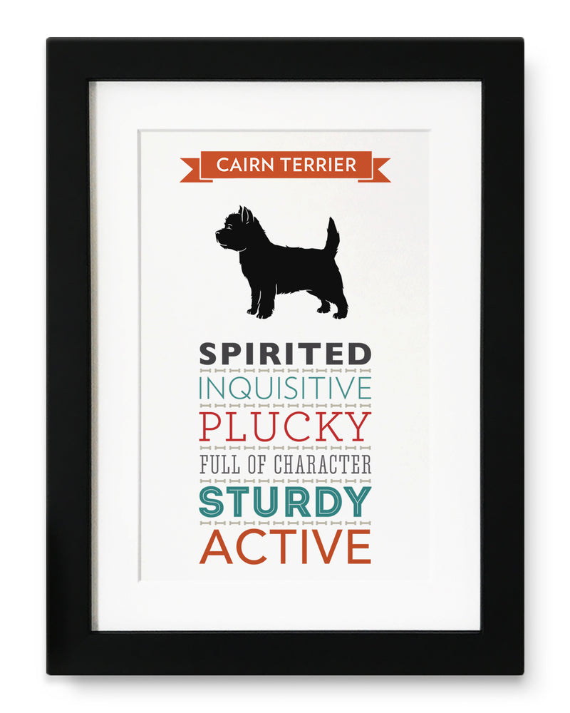 Cairn Terrier Dog Breed Traits Print