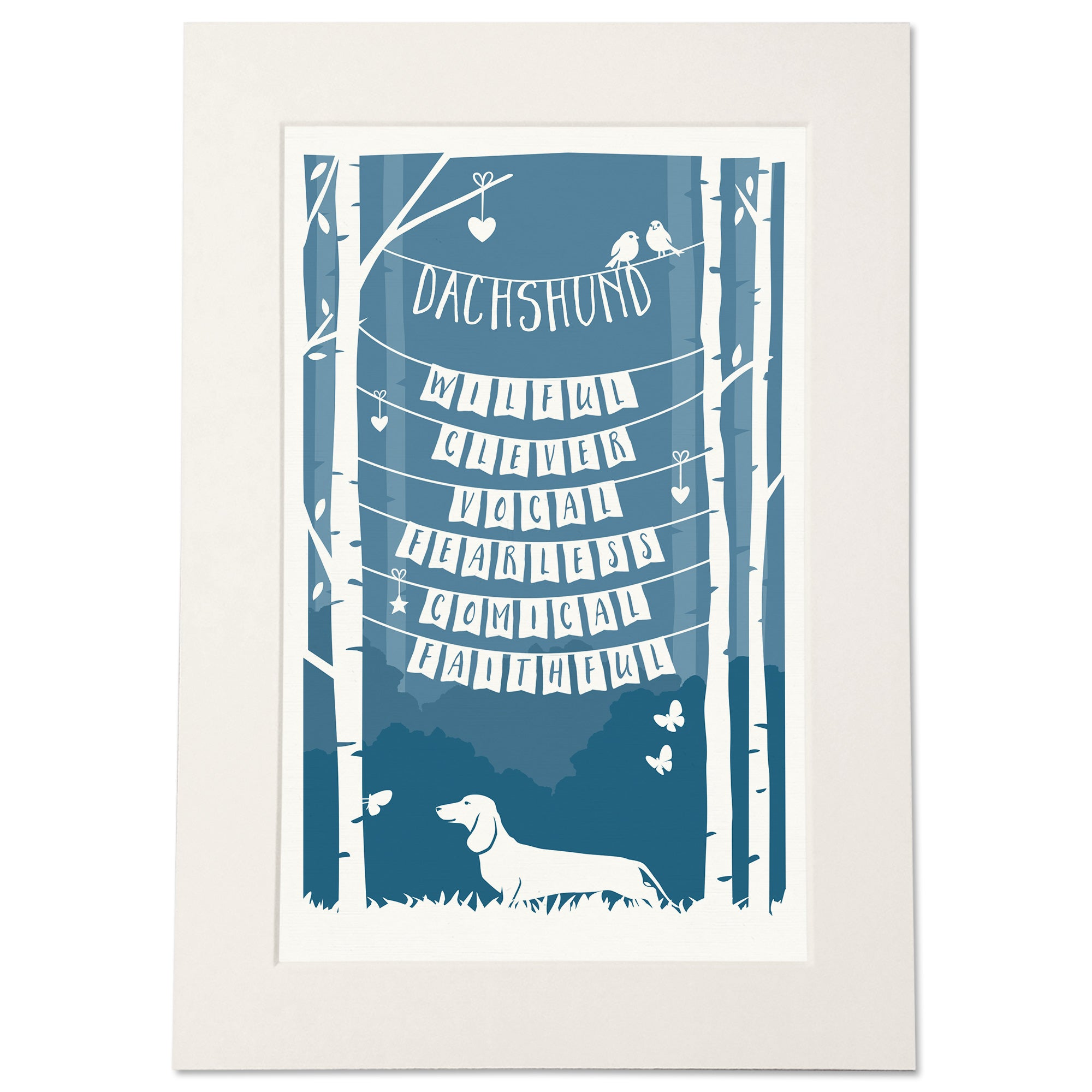 Personalised Dachshund Traits Print