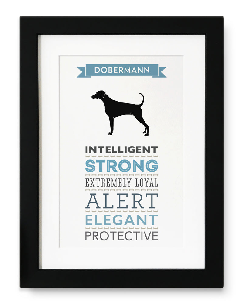 Dobermann Dog Breed Traits Print