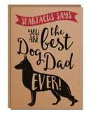 Personalised 'Best Dog Dad Ever' Father's Day Card From The Dog