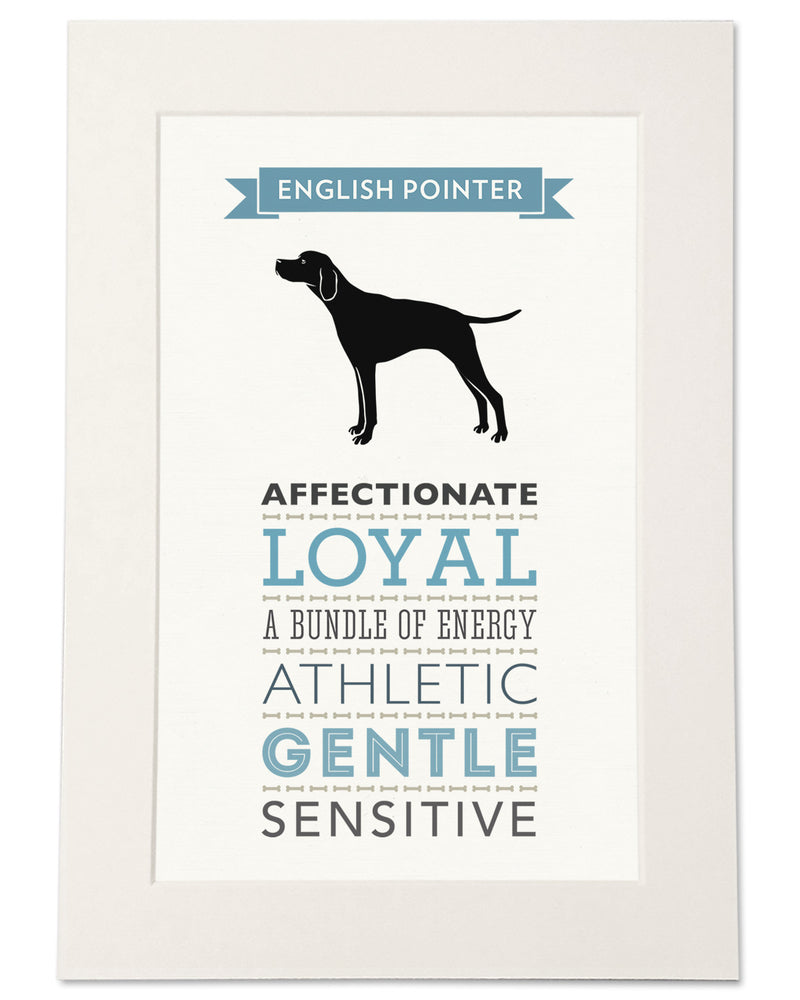 English Pointer Dog Breed Traits Print