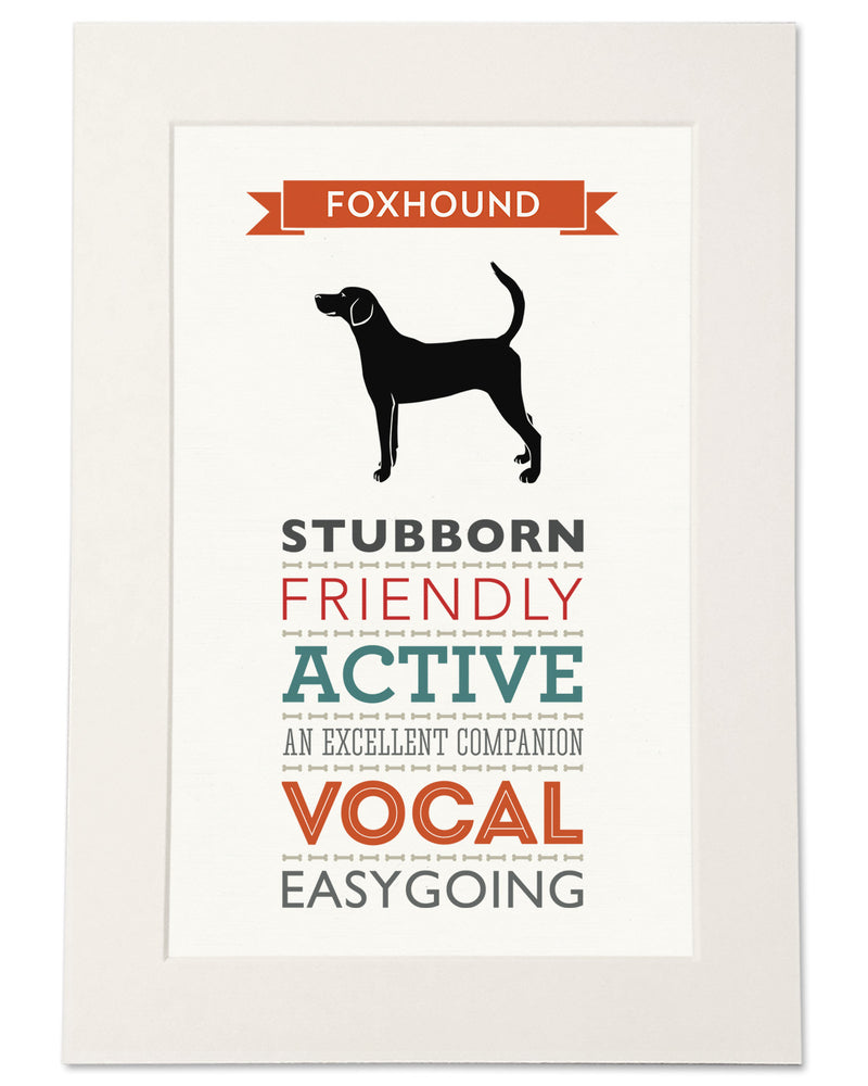 Foxhound Dog Breed Traits Print