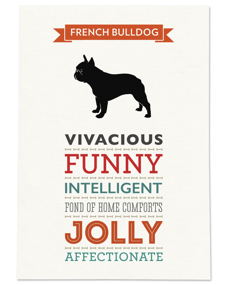 French Bulldog Dog Breed Traits Print