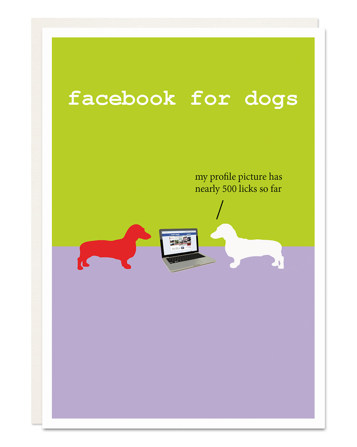 'facebook for dogs' Dachshund card for any occasion