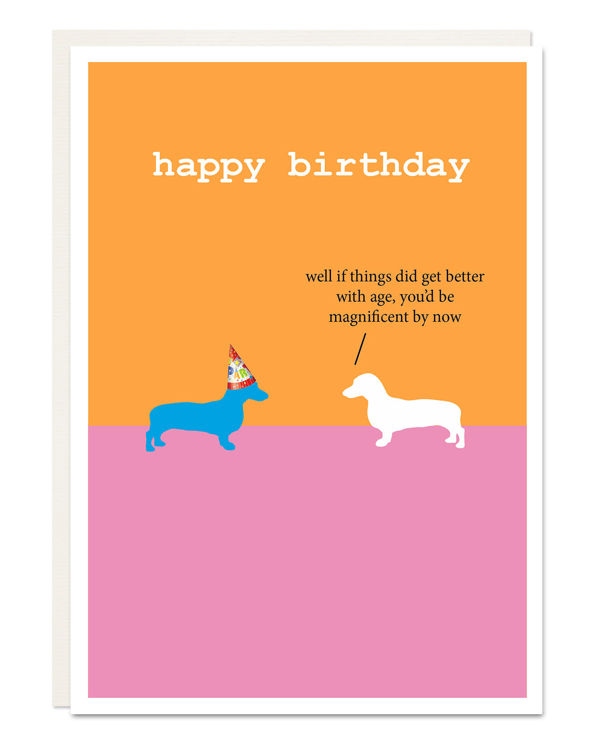 'magnificent' Dachshund birthday card