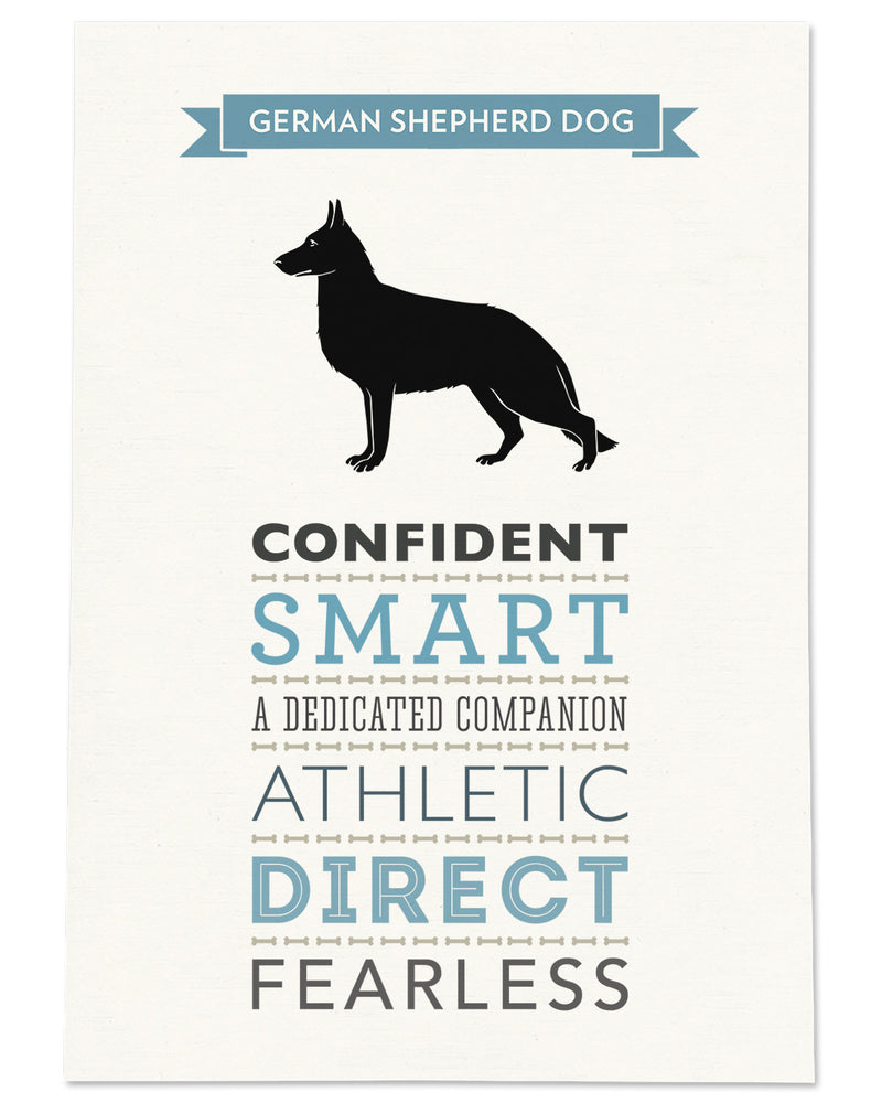 German Shepherd Dog Breed Traits Print