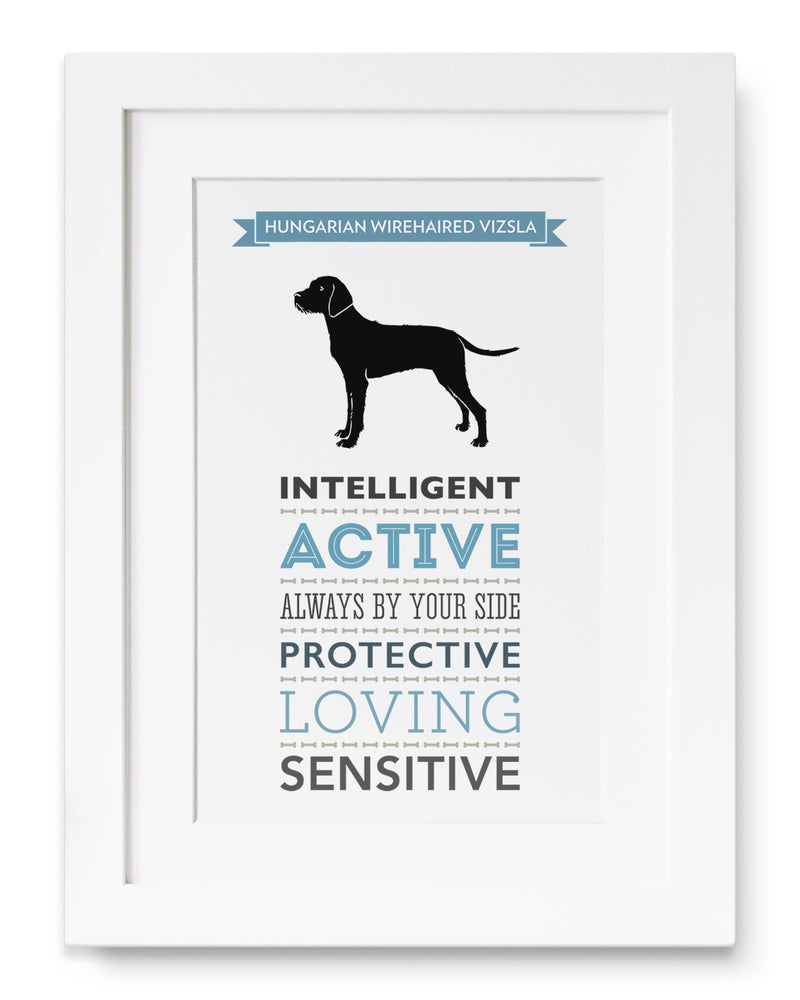 Hungarian Wirehaired Vizsla Dog Breed Traits Print