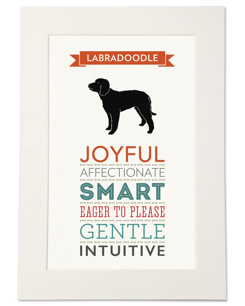Labradoodle Dog Breed Traits Print