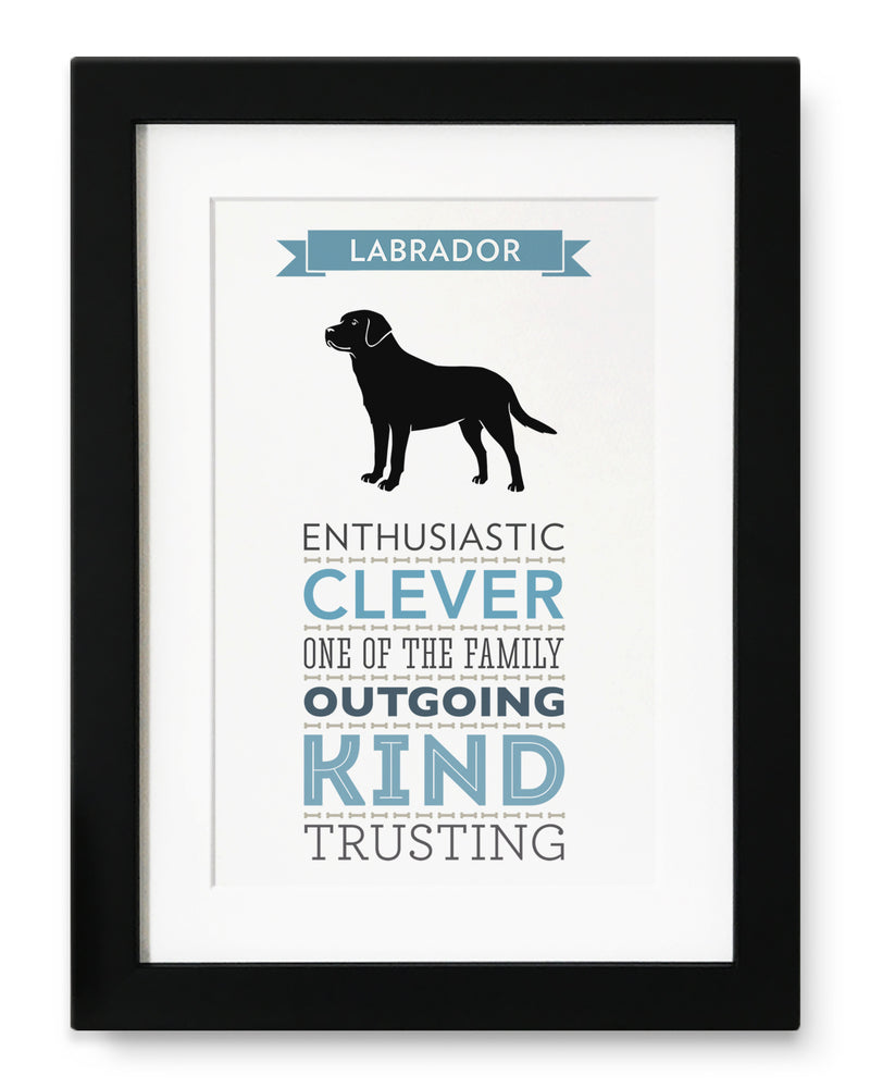 Labrador Dog Breed Traits Print