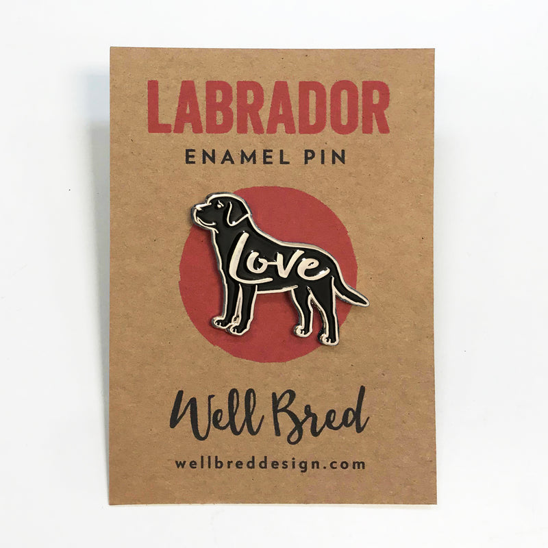 Labrador Love Enamel Lapel Pin Badge