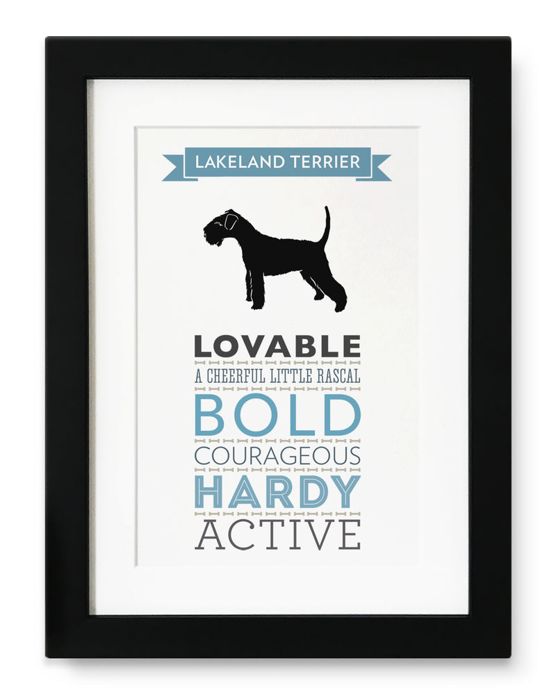 Lakeland Terrier Dog Breed Traits Print