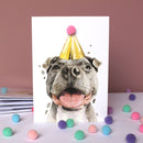 Staffy Pompom Birthday Card