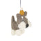 Hugo the Schnauzer Handmade Hanging Felt Decoration