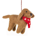 Pip the Dog Handmade Needle Felt Hanging Decoration