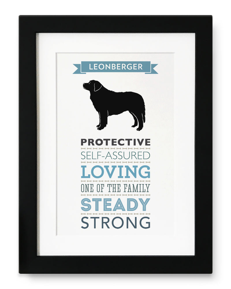 Leonberger Dog Breed Traits Print