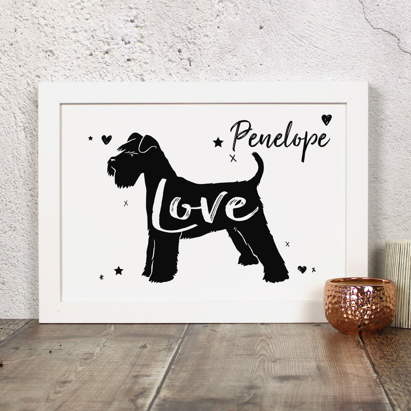 Personalised Miniature Schnauzer 'Love' Print