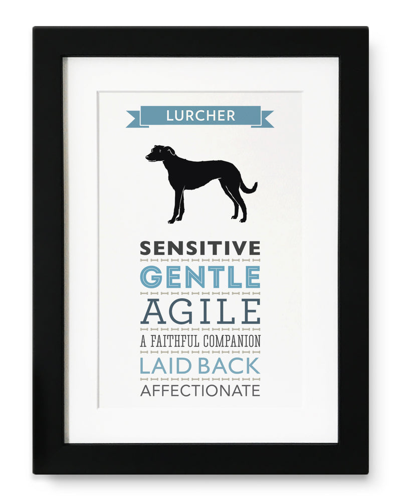 Lurcher Dog Breed Traits Print