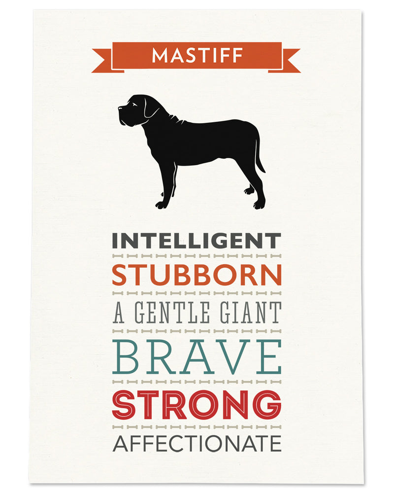 Mastiff Dog Breed Traits Print