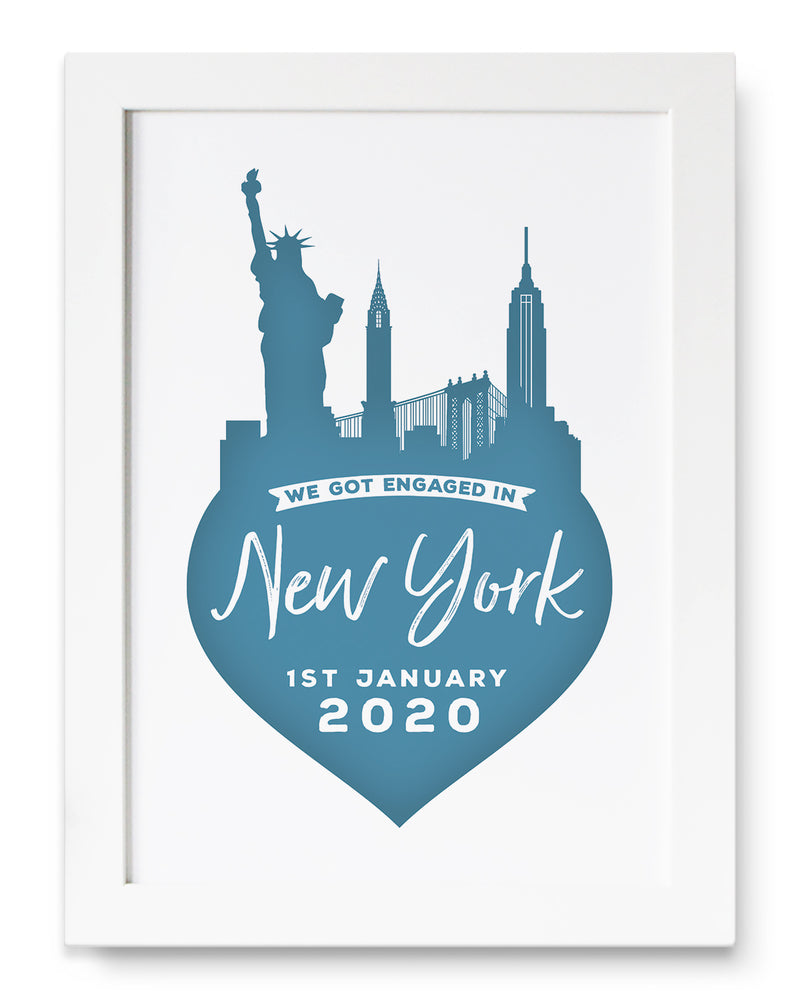 Personalised New York Memento Print