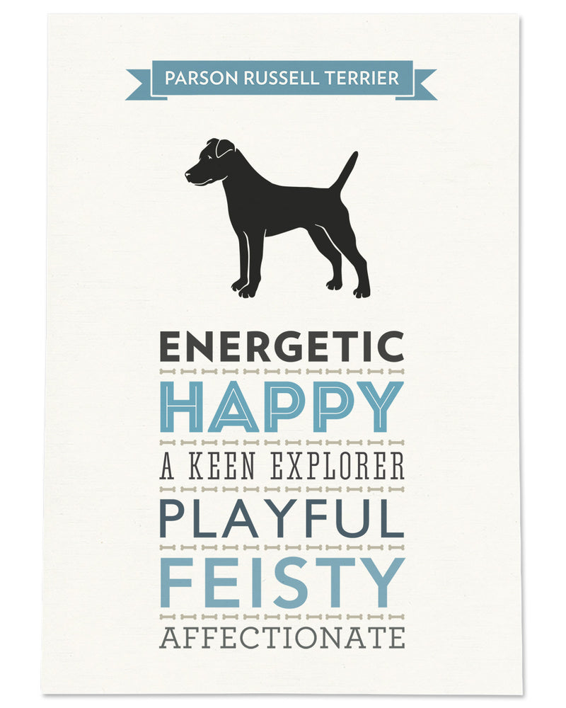 Parson Russell Terrier Dog Breed Traits Print