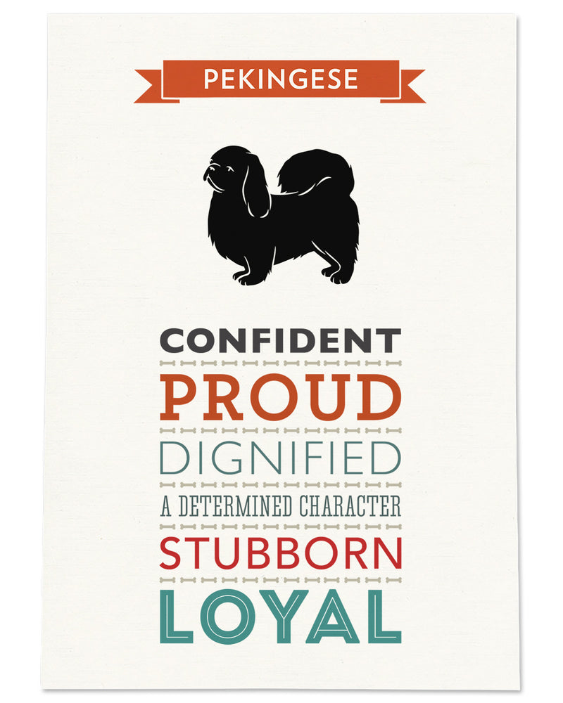 Pekingese Dog Breed Traits Print