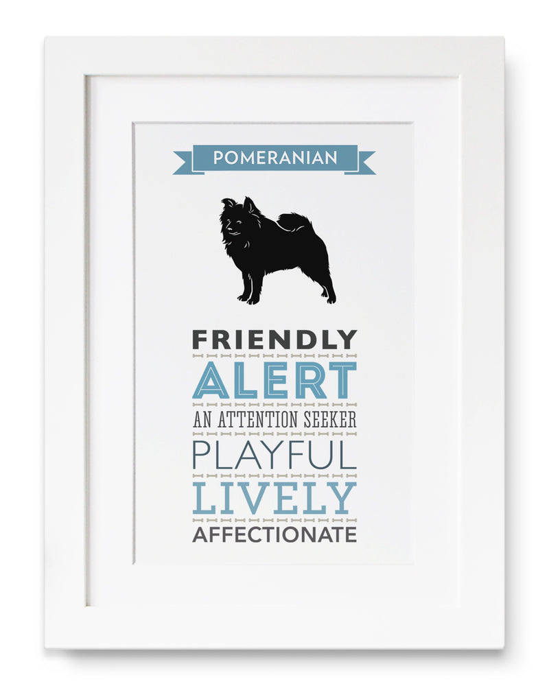 Pomeranian Dog Breed Traits Print