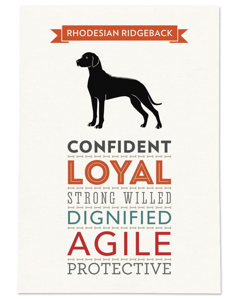 Rhodesian Ridgeback Dog Breed Traits Print