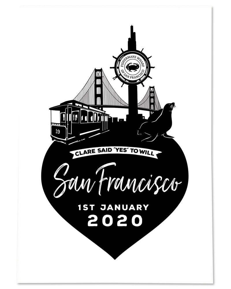 Personalised San Francisco Memento Print