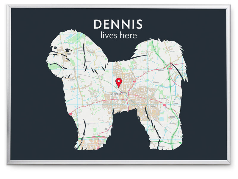 Personalised Shih Tzu Map Print