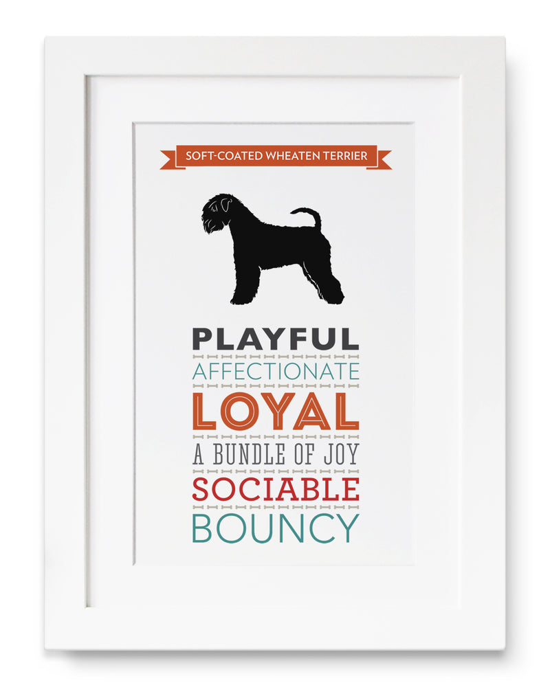 Soft-Coated Wheaten Terrier Dog Breed Traits Print