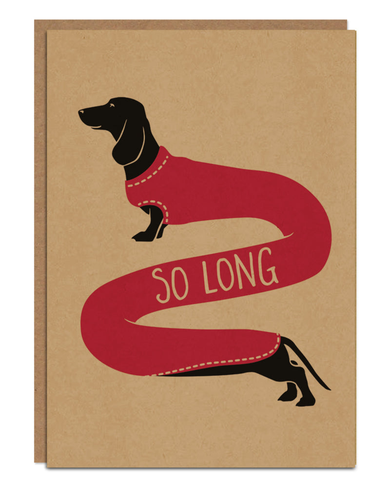 'So Long' Farewell Card