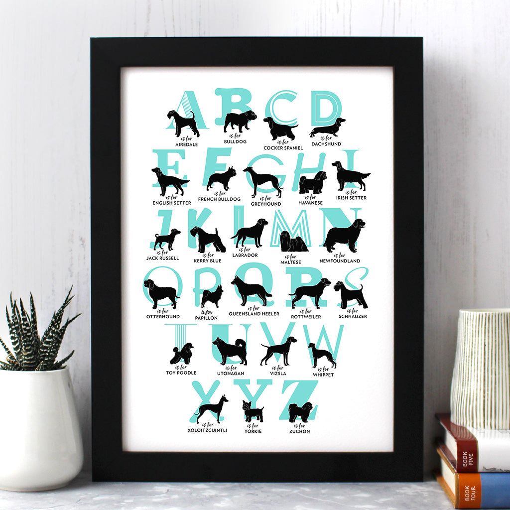 Dog Breed A To Z Print