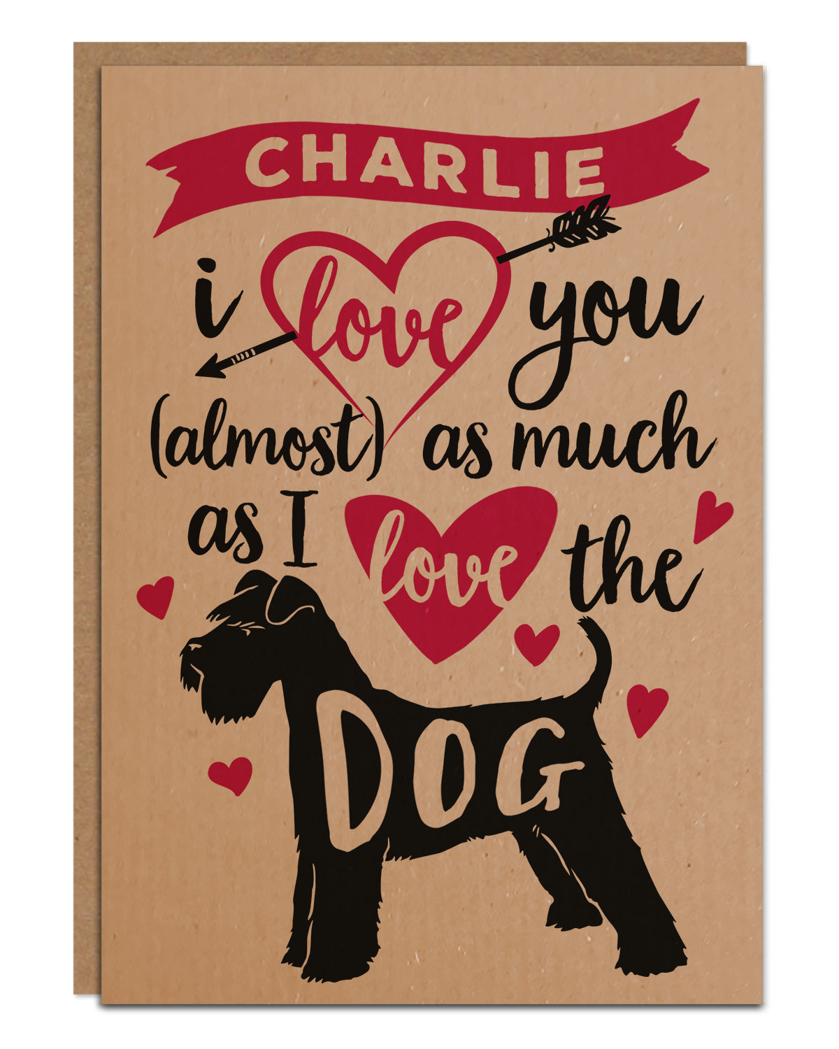 Valentines Card for dog lovers