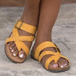 Flat Round Toe Buckle Sandals——BUY 2 FREE SHIPPING