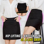 HIP LIFTING & ANTI-CHAFING STRETCHABLE OL A-LINE SKIRT