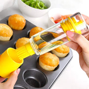 2 in 1 Oil Bottle with Brush for BBQ Cooking