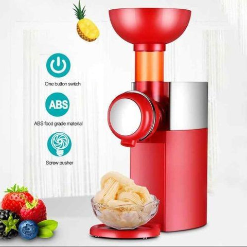 Electric Frozen Fruit Dessert Machine - Create Healthy Vegan Ice Cream Desserts with this quick and easy fruit sorbet maker!
