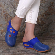 【49% OFF & BUY 2 FREE SHIPPING】Women Casual Plus Size Applique Wedge Heel Slippers