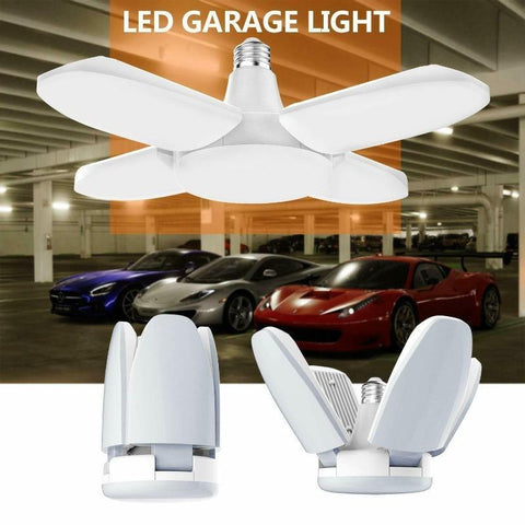 Deformable LED Garage Light With 4 Adjustable Panels-Angle Light Anywhere - hotlingss