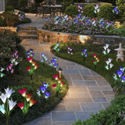 Solar Power Lily Flower LED Light-Bright your yard(1 piece of 4 Lilies)Buy 1 free 1 - hotlingss