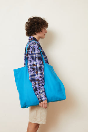 Plain Blue Tote Bag